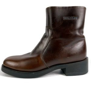 Durango Brown Leather Side-Zip Boots Size 8D